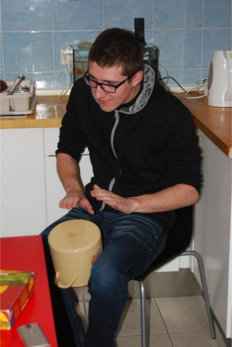 Perkusiju meistarklase jauniešu centrā.