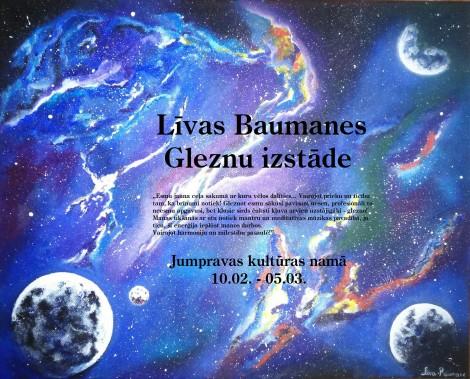 Līvas Baumanes izstādes afiša