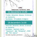 Adventes koncerti un Ziemassvētku dāvanu tirdziņi Jumpravas kultūras namā