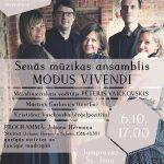 Senās mūzikas ansambļa Modus Vivendi koncerts