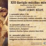 3.novembrī iesāksies XIII Garīgās mūzikas mēnesis Jumpravas Sv. Jāņa ev. lut. baznīcā.