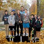 Jumpravas vidusskola rudens krosā stafetēs