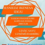 Biznesa ideju konkurss novada jauniešiem no 1.-31. martam